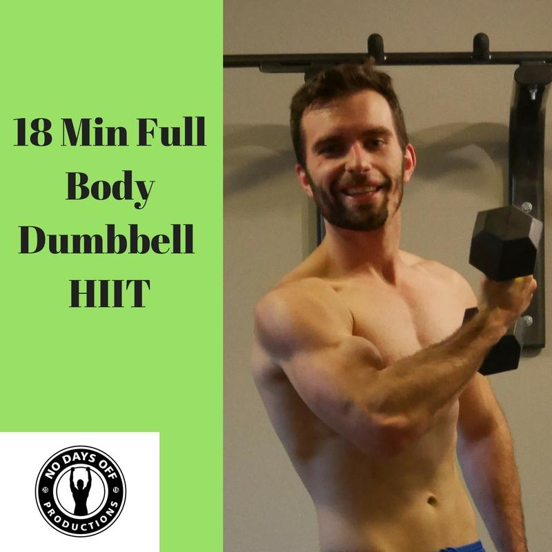 18 Min Full Body Dumbbell HIIT Workout