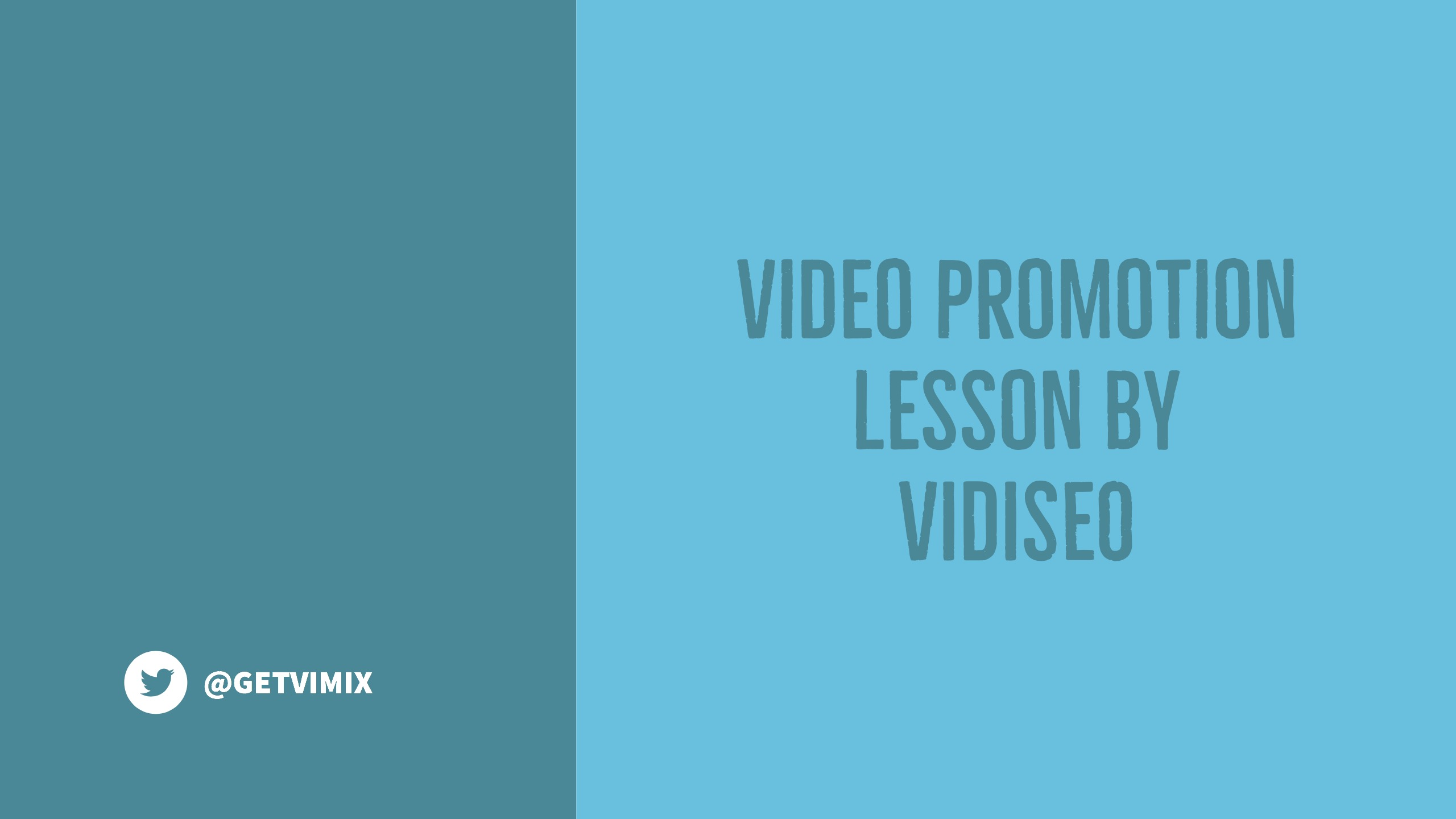 Video Promotion Lesson